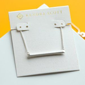Bright Silver Kendra Scott Kelsey Pendant Necklace